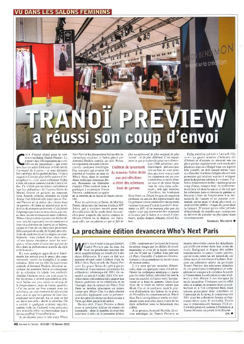 JOURNAL DU TEXTILE FEV13