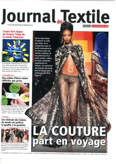 JOURNAL DU TEXTILE FEV 13